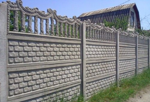 Преимущества бетонного еврозабора