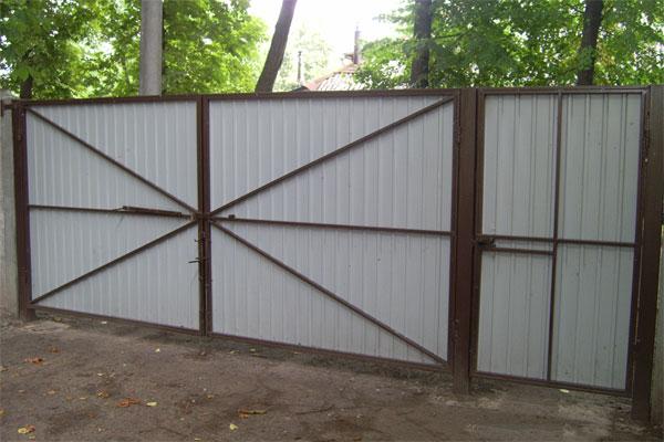 Ворота из профнастила сумы сдвижные воротам