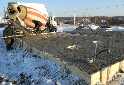 Особенности работ с цементом в зимний период